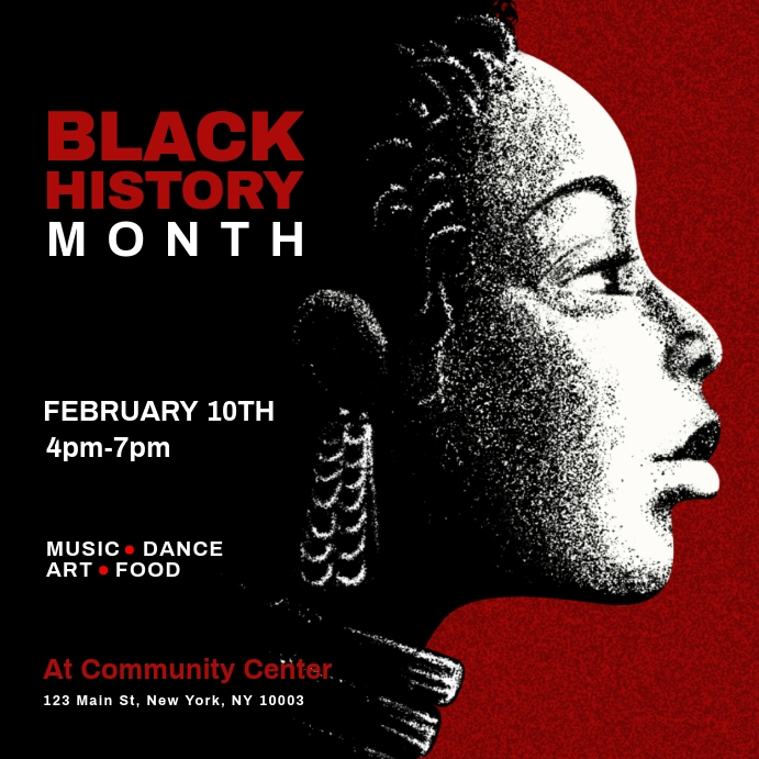 Black History Month Flyer Template from d1csarkz8obe9u.cloudfront.net