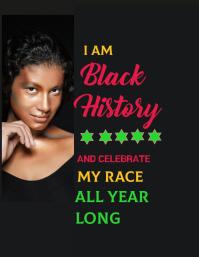 BLACK HISTORY MONTH FLYER 传单(美国信函) template