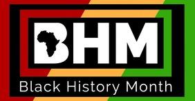 Black History Month Flyer Image partagée Facebook template