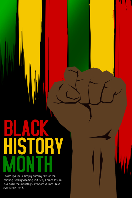 Black history month flyer Poster template