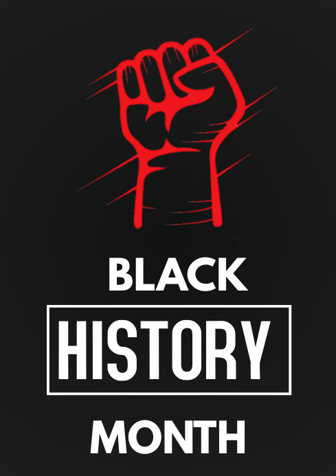 Black history month flyer A3 template