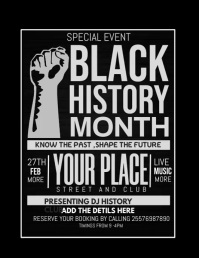 Black history month flyer Рекламная листовка (US Letter) template