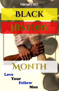Black History Month Flyer Tabloïd template