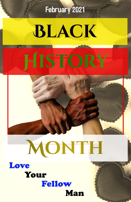 Black History Month Flyer Tabloid template