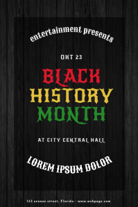 Black History Month Flyer Design Template
