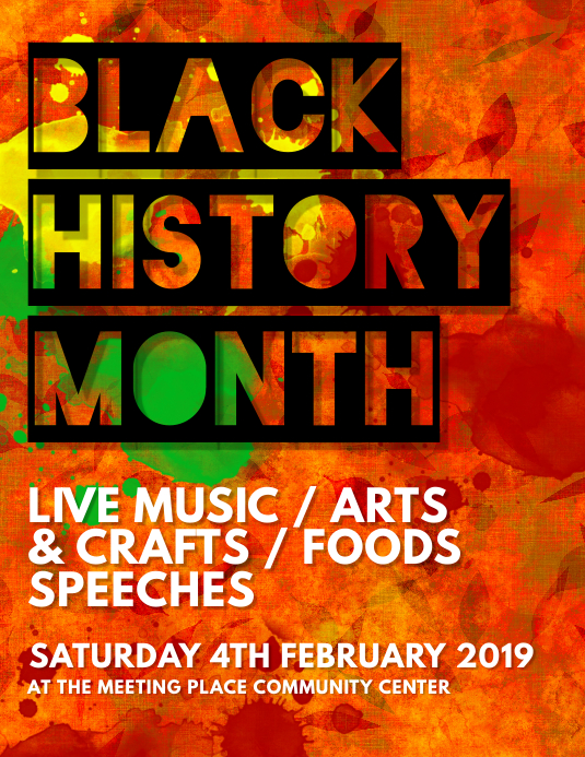Black History Month Flyer Template Images Template Design Free