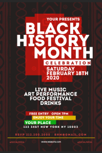 Black History Month Flyer Template Cartel de 4 × 6 pulg.