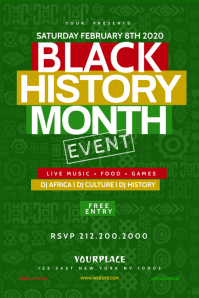 Black History Month Flyer Template