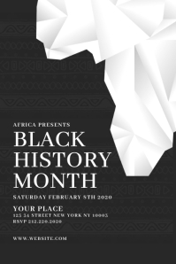 Black History Month Flyer Template 横幅 4' × 6'