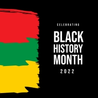 Black History Month Flyer Template Kvadrat (1:1)