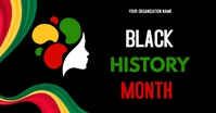 Black history month flyers Facebook Shared Image template