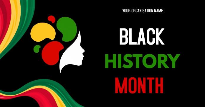 Black history month flyers delt Facebook-billede template