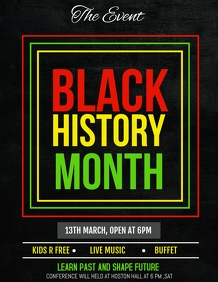 Black history month flyers