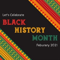 Black history month instagram template