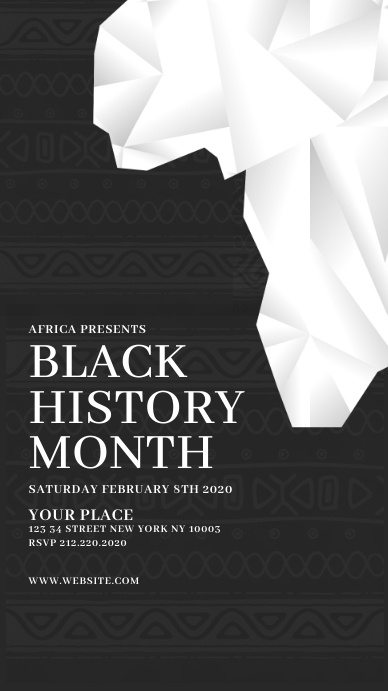 Black History Month Instagram Story template