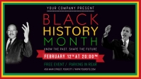 Black History Month Landscape Digital Display Image template