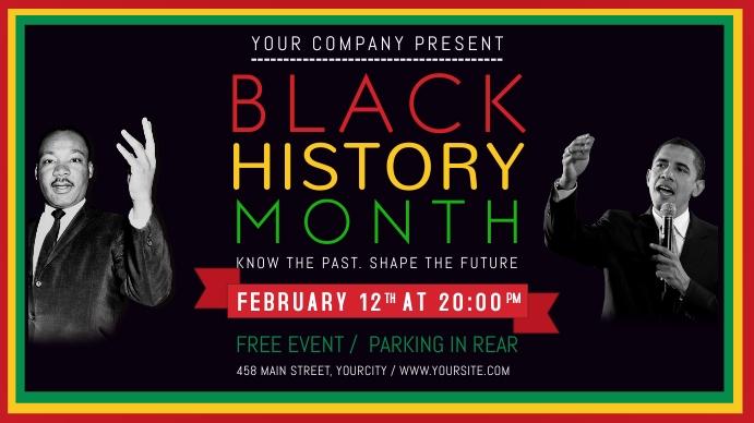 Black History Month Landscape Digital Display Image