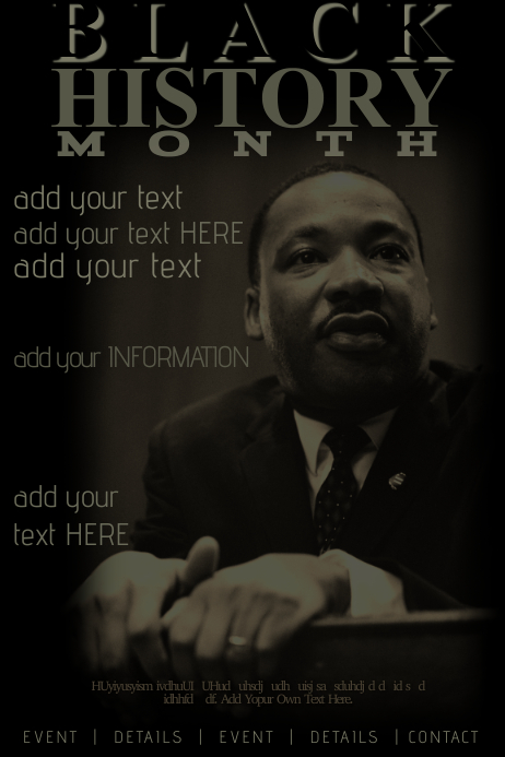 Black History Month MLK Holiday Event Education Heritage