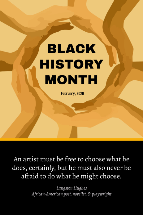 Black History Month - Motivational Poster template