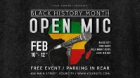 Black History Month Open Mic Event Digital Display Poster template