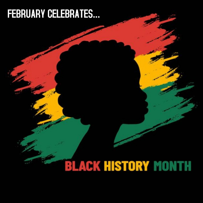 BLACK HISTORY MONTH POSTER 徽标 template