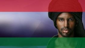 Black history month poster template Видеообложка профиля Facebook (16:9)