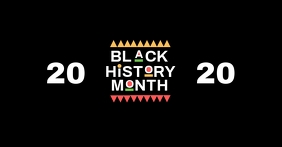 Black history month poster template