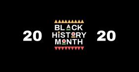 Black history month poster template Gambar Bersama Facebook