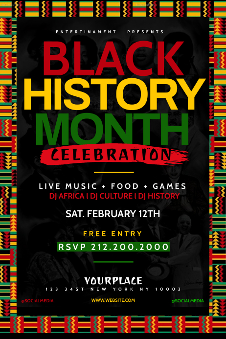 Black History Month Poster Template Plakat