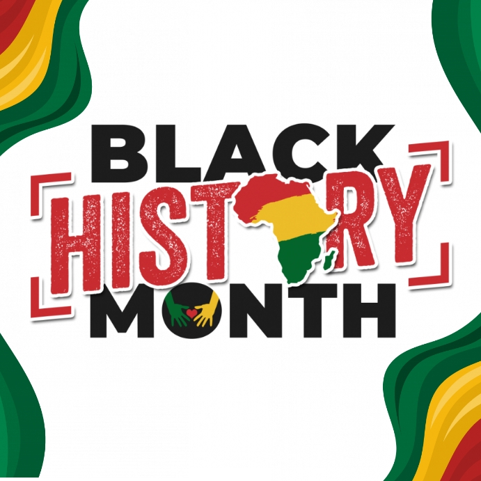Black History Month Poster Template Kvadrat (1:1)