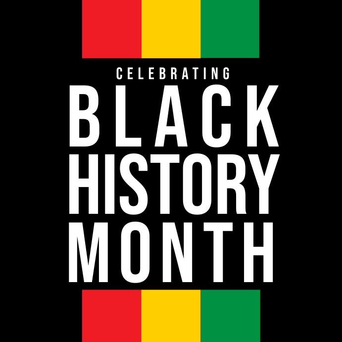 Black History Month Poster Template Kvadrat (1:1)