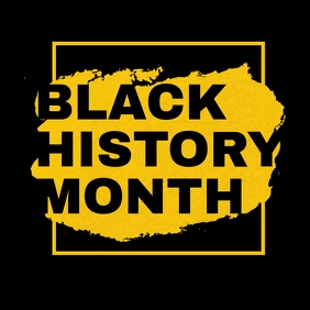 Black history month poster template Square (1:1)