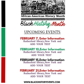 BLACK HISTORY MONTH SCHEDULE