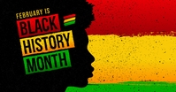 black history month social media post Facebook Gedeelde Prent template