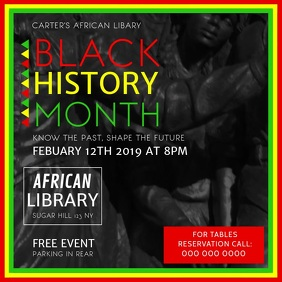 Black History Month Square Video template