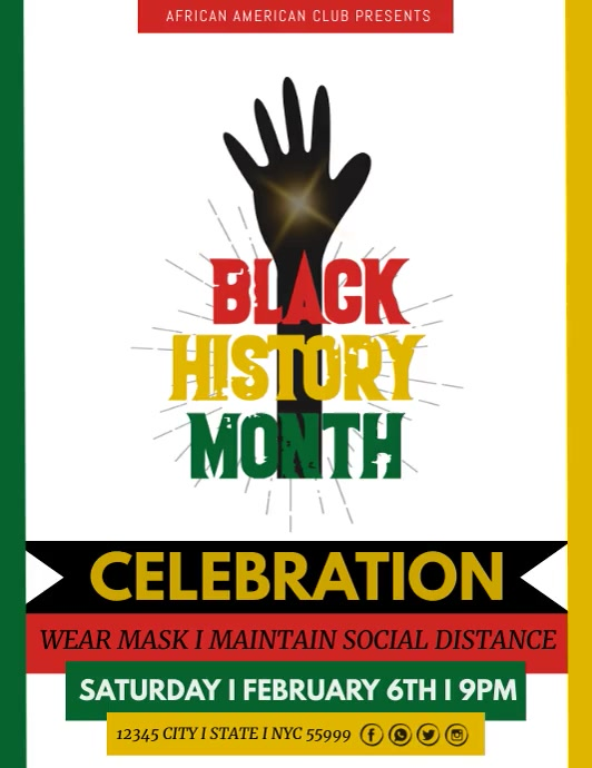 Black History Month Template Flyer (US Letter)