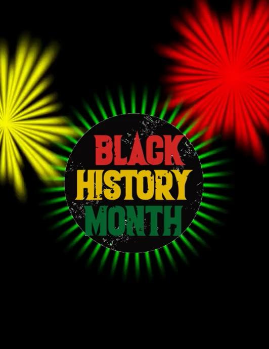 Black History Month Template Flyer (US Letter)