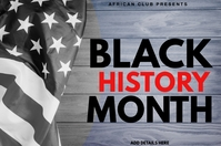 Black History Month Template Banner 4' × 6'