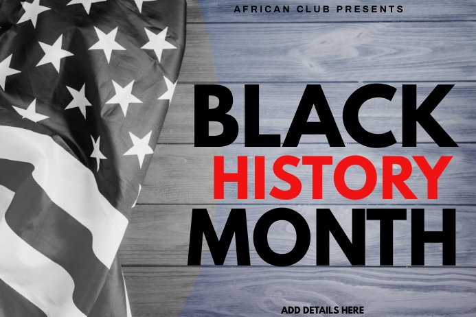 Black History Month Template Spanduk 4' × 6'