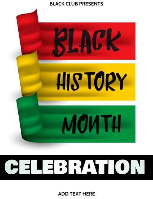 Black History Month Template Pamflet (Letter AS)