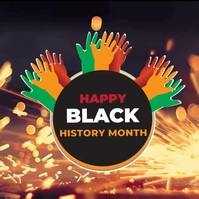 Black History Month Video Template Square (1:1)