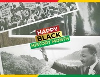 Black History Month Video Template Flyer (US Letter)