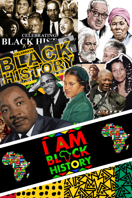 Black History Party Backdrop