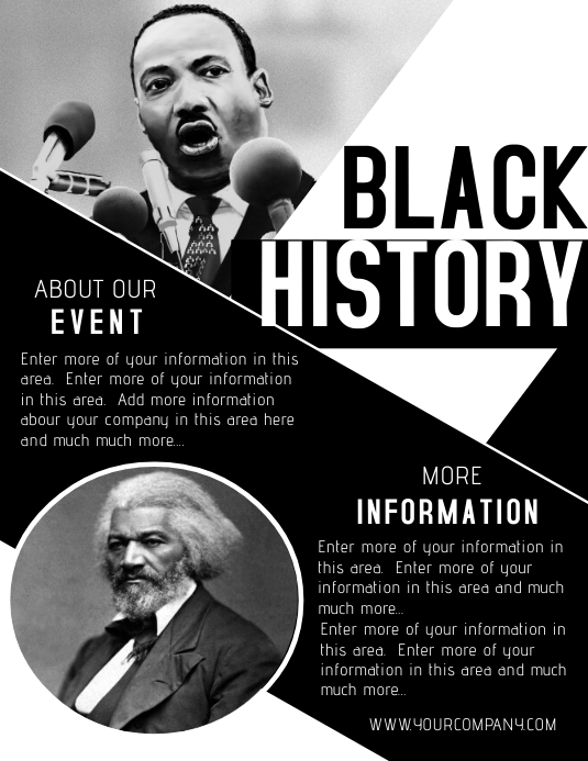 BLACK HISTORY Flyer (format US Letter) template