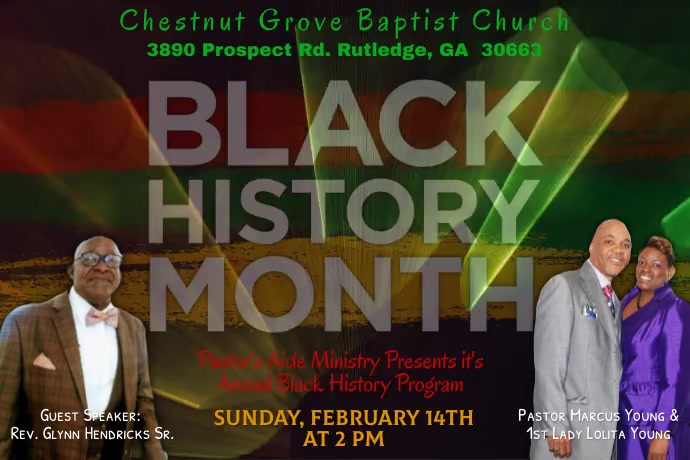 Black History Program Cartaz template