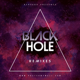 Black Hole CD Mixtape Cover Template Albumcover