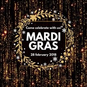 Black Instagram Mardi Gras Video Template
