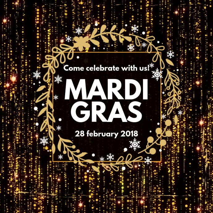 Black Instagram Mardi Gras Video Template