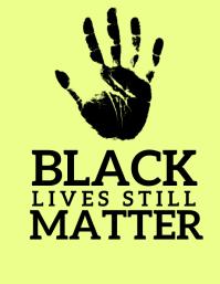 Black Life Matters Рекламная листовка (US Letter) template
