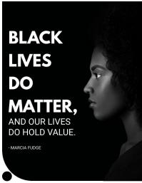 Black Lives do Matter BLM Flyer